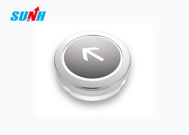 Up And Down Elevator Push Button Zinc Alloy Material Slim Round Shape