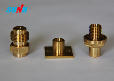 Yellow Color Cnc Machined Aluminum Part , Cnc Turning Parts High Precision